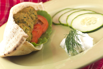 Falafel in a Pita Pocket