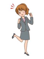 女性 ガッツポーズ