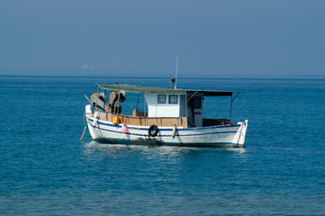 Traditional fishing boat in Greece