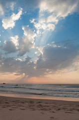 Sunset in Algarve Castelejo beach, Portugal