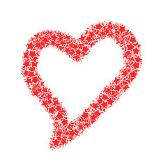 red heart stars