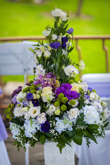 large bouquet of flowers composition