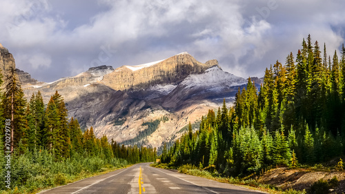Scenic view of the road on Icefields parkway, Canadian Rockies © Martin M303