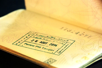 visa entry  stamps in passport