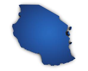 Map Of Tanzania 3d Shape