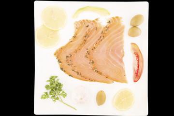 Salmon snack