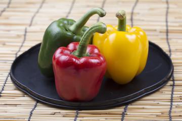 fresh yellow red green Bell Pepper