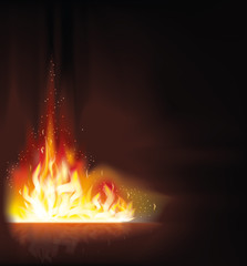 Fire flame background, vector illustration