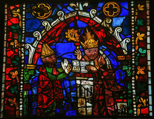 Pope Clement - Stained Glass in Leon Cathedral