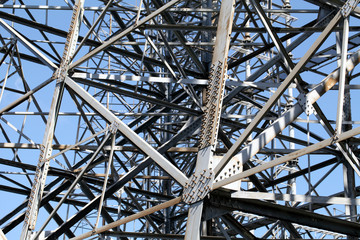 Detail of steel framework