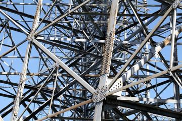 Detail of steel framework