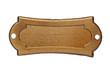 vintage brass name plate - 70282521
