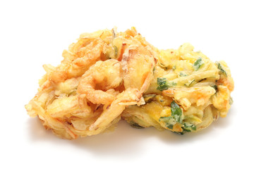 Kakiage, shrimp and vegetable fritters