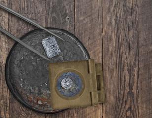 diamonds in a vintage tin