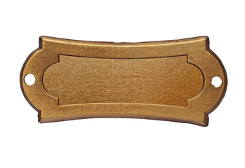 vintage brass name plate