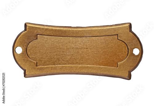 vintage brass name plate - 70282521