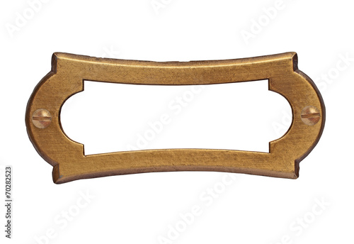 vintage brass name plate - 70282523