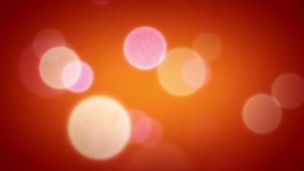 Soft Focus Light Particles Orange