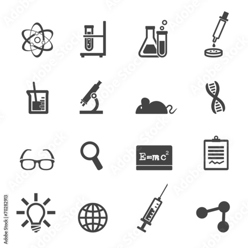 Fototapeta science and laboratory icons