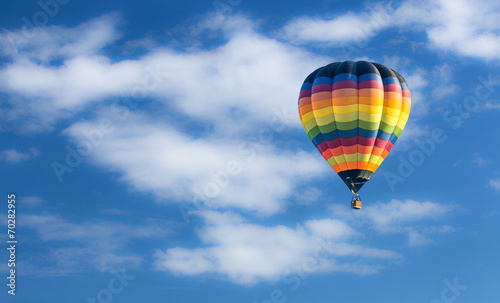 canvas print picture Hot air balloon over blue sky