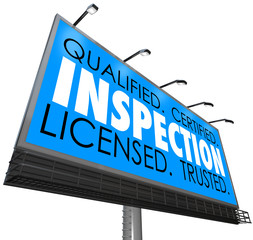 Inspection Qualified Certified Licensed Trusted Billboard Advert
