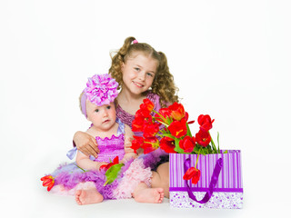 Girls and gift