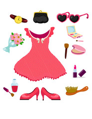 girl dress accessories and cosmetic set