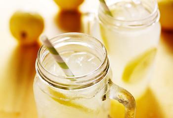 jugs of lemonade panorama