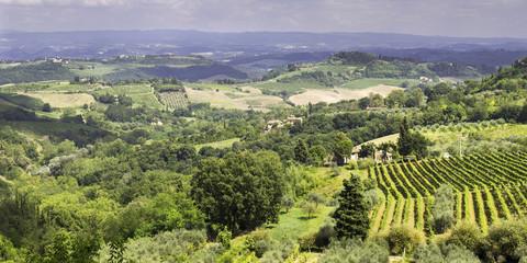 Val di Cornia, Tuscany, panorama. Color image