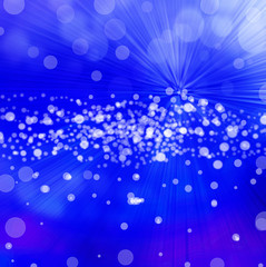 Abstract blue background, beautiful shiny lights.