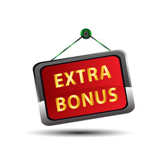 Extra Bonus Icon Internet button on red background