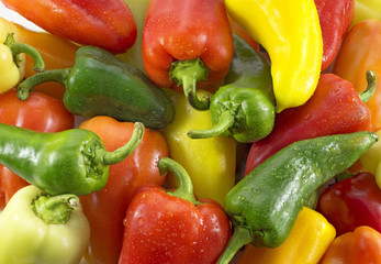 Background with colorful peppers