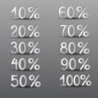 бумажное проценты на сером фоне