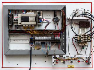 Wiring -- Control panel with wires