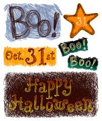 Halloween Text Set