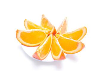 sliced orange on a plate
