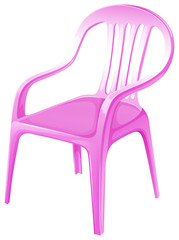 A pink chair furniture