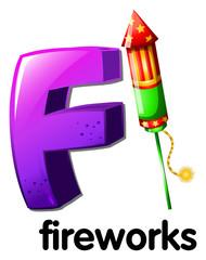 A letter F for fireworks