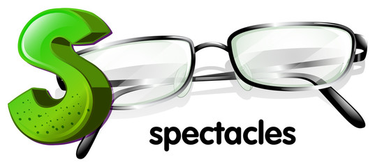 A letter S for spectacles