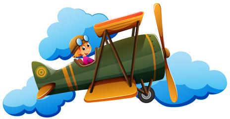 A boy on a plane