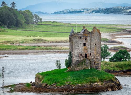 Zdjęcia na płótnie, fototapety, obrazy : Panoramic view of Stalker Castle, Highlands, Scotland