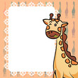 Giraffe and frame texture vector illustrator background
