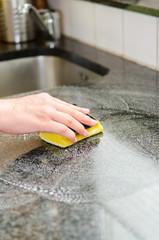 küchenablage säubern