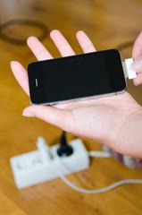 smartphone laden
