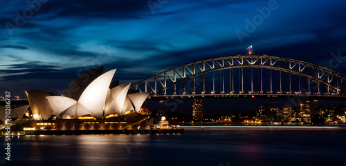 Tuinposter Australië Harbor Bridge Skyline II