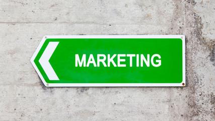 Green sign - Marketing