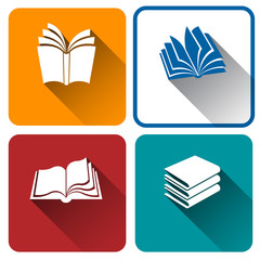book icon on colorful background,vector illustration