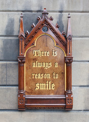 Decorative wooden sign - There is always a reason to smile