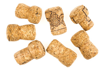 Champagne corks isolated