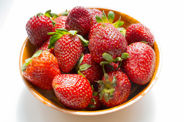 Red juicy strawberry